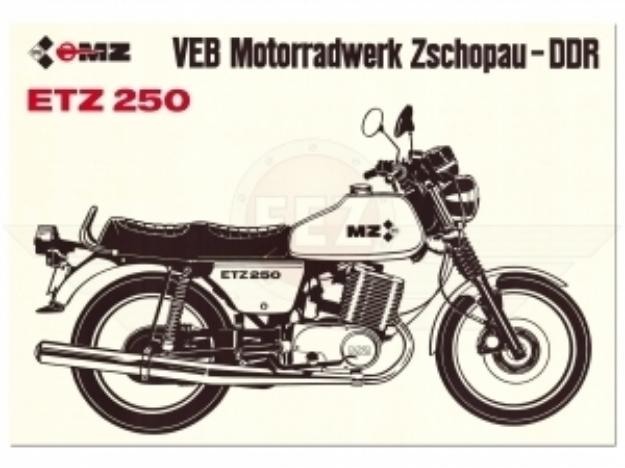 """Bild von MZ-Poster """"ETZ250"""""""