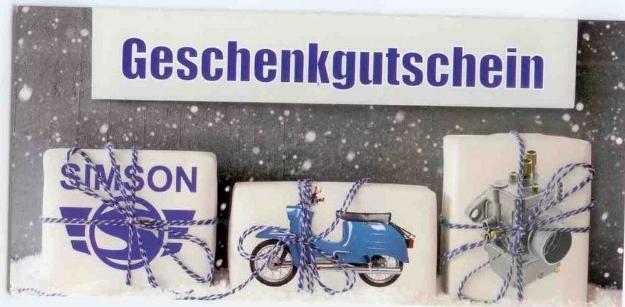 Bild von Geschenk-GUTSCHEIN SIMSON-Motiv Weihnachten