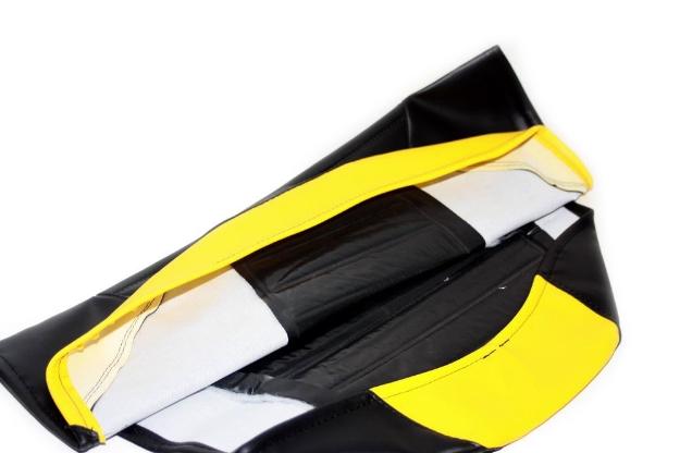 Bild von Sitzbankbezug S53 SR50 SR80  -schwarz-gelb strukturiert