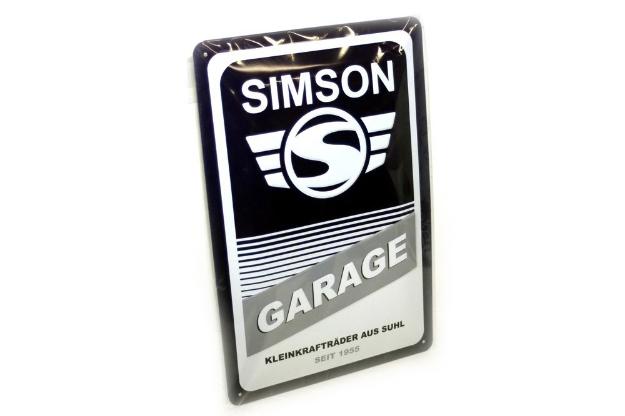 Bild von Blechschild SIMSON Garage